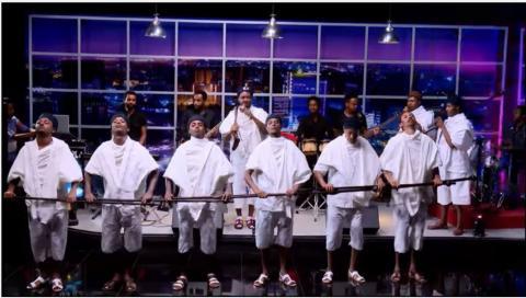 Abushi Zeleke Live performance on Seifu Show