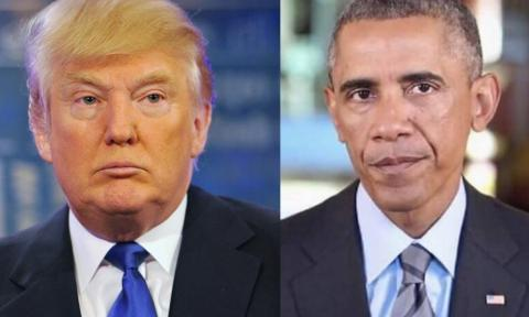 President-elect Donald J. Trump and President Obama at The White House.