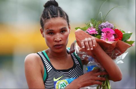 Letesenbet Gidey won the women's race at the IAAF World Cross Country Championships