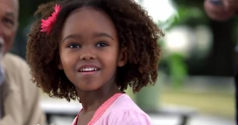 Young Ethiopian actress Lidiya Jewet plays a role in the film Hidden Figures